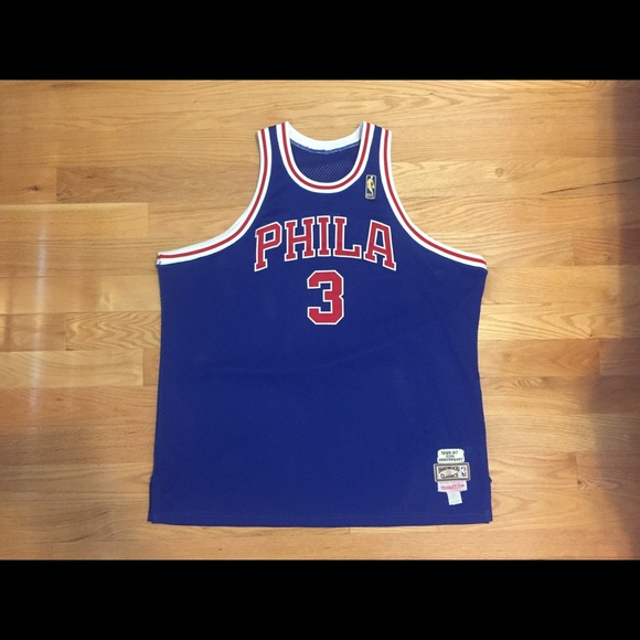 purchase cheap ba7a8 5cdf4 Mitchell & Ness Allen Iverson Phila Sixers Jersey